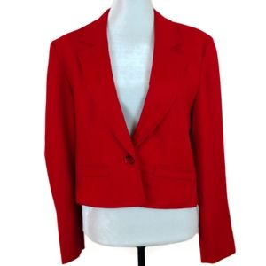 Vintage 1970s Pendleton Red Cropped Wool Blazer 16